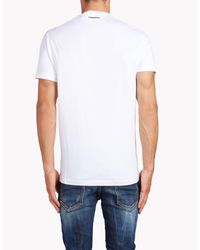 DSquared² - White Long Cool Twisted Ripped T-shirt for Men - Lyst