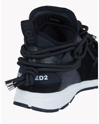 DSquared² - Black Bungee Jump Sneakers for Men - Lyst