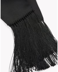 DSquared² - Black Fringed Silk Scarf - Lyst