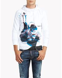 DSquared² - White Classic Raglan Fit Sweatshirt for Men - Lyst