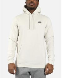 e96003371 Lyst - Nike Nsw Fleece Club Pullover Hoodie in White for Men