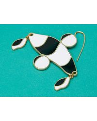 Diane von Furstenberg Multicolor Abstract Color Block Earrings