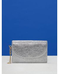 Diane von Furstenberg - Metallic Saddle Evening Clutch - Lyst