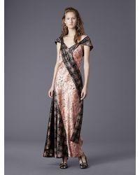 Diane von Furstenberg - Multicolor Cap Sleeve Bias Draped Dress - Lyst