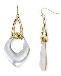 Alexis Bittar - Metallic Lucite Liquid Link Dangle Earrings - Lyst