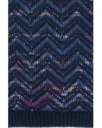 Missoni - Blue Flecked Scarf for Men - Lyst