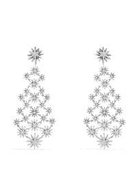 David Yurman | Metallic Starburst Chandelier Earrings With Diamonds | Lyst