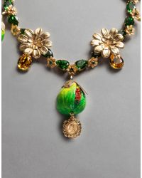 Dolce & Gabbana - Green Fig Necklace - Lyst