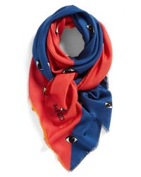 KENZO | Red 'Double Eyes' Scarf | Lyst