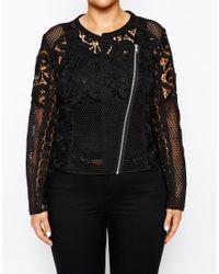 ASOS | White Exclusive Premium Lace Jacket | Lyst
