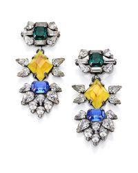 DANNIJO - Yellow Dorothy Crystal Drop Earrings - Lyst