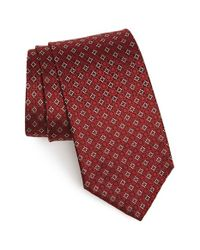 Ferragamo | Red Gancini Grid Silk Tie for Men | Lyst