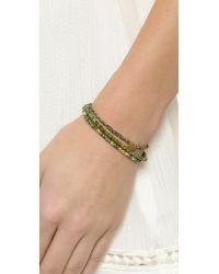 Tai - Beaded Evil Eye Bracelet - Green - Lyst