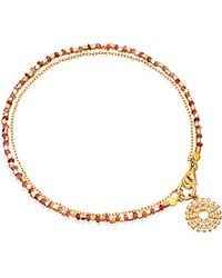 Astley Clarke | Pink Sapphire Rising Sun 14ct Gold, Sapphire And Diamond Bracelet | Lyst