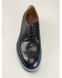 Paul Smith - Blue Brogue Derby Shoes for Men - Lyst