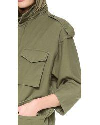 NLST - Green Oversized M65 Jacket - Lyst