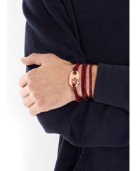 Miansai | Purple Burgundy Leather Wrap Bracelet for Men | Lyst