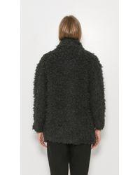IRO - Gray Bixby Fur Coat - Lyst