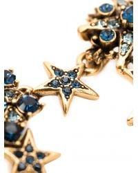 Oscar de la Renta - Blue Stars Necklace - Lyst