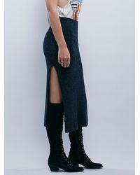 Free People | Black Womens Felix Rib Maxi Skirt | Lyst