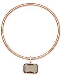 Michael Kors - Metallic Rose Gold-tone Choker Necklace - Lyst