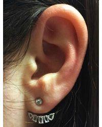 Anne Sisteron | Metallic 14kt White Gold Diamond Bijou Floating Earrings | Lyst