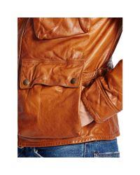 Polo Ralph Lauren - Brown Southbury Leather Biker Jacket for Men - Lyst