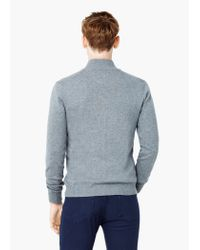 Mango - Gray Cotton Cashmere-blend Cardigan for Men - Lyst