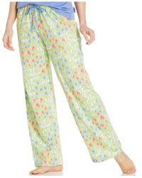 Hue - Green Butterfly Print Ankle-Length Pajama Pants - Lyst