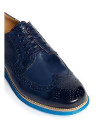 Cole Haan - Blue Lunargrand Longwing Brogue Derby Shoes for Men - Lyst