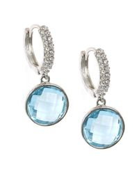Judith Jack - Cooling Effects Blue Swarovski Crystal And Sterling Silver Drop Earrings - Lyst