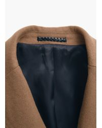 Mango - Brown Tailored Wool-blend Overcoat for Men - Lyst