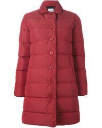 Aspesi | Red 'lenticchia' Padded Coat | Lyst