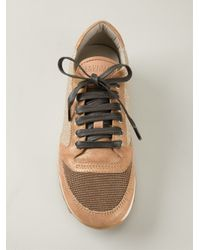 Brunello Cucinelli - Brown Lace-Up Sneakers - Lyst