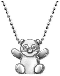 Alex Woo | Metallic Little Cities By Panda Pendant Necklace In Sterling Silver | Lyst