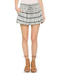 Ella Moss | Black Cortez Mini Shorts - Indigo | Lyst