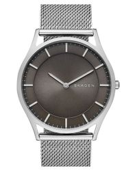 Skagen | Metallic 'holst' Round Watch for Men | Lyst
