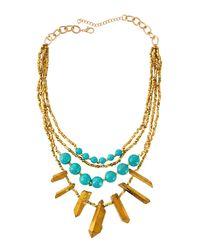 Panacea - Multicolor Multi-strand Bead & Bar Necklace - Lyst