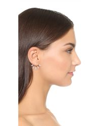 Pamela Love - Metallic Five Spike Freshwater Cultured Pearl Earrings - Lyst