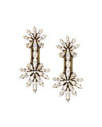 Auden | Metallic Devon Crystal Chain Drop Earrings | Lyst