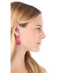 Kenneth Jay Lane - Teardrop Earrings Pink - Lyst
