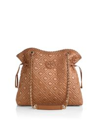 Tory Burch - Brown Marion Quilted Slouchy Tote - Lyst