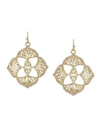 Kendra Scott - Metallic Dawn Logo Earrings Gold - Lyst
