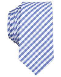 Original Penguin | Blue Scenic Gingham Skinny Tie for Men | Lyst