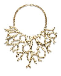 Kenneth Jay Lane | Metallic Branch Statement Bib Necklace | Lyst