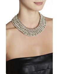 BCBGMAXAZRIA - Metallic Wovenchain Spike Necklace - Lyst