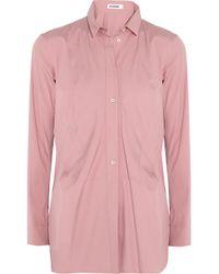 Jil Sander - Pink Cotton-blend Shirt - Lyst