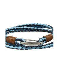 Ted Baker | Blue Sor Leather Bracelet for Men | Lyst