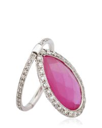Nina Runsdorf | Red Ruby Flip Ring | Lyst