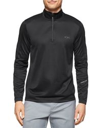 Calvin Klein | Black Mesh Peformance Pullover for Men | Lyst